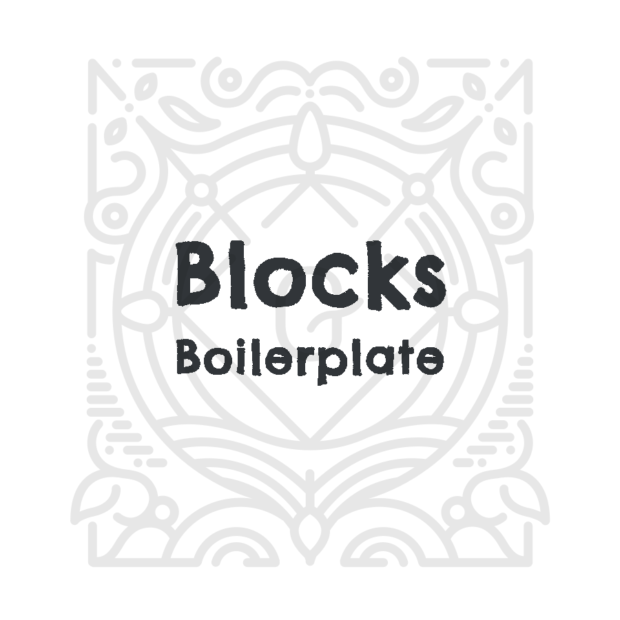 Blocks Boilerplate