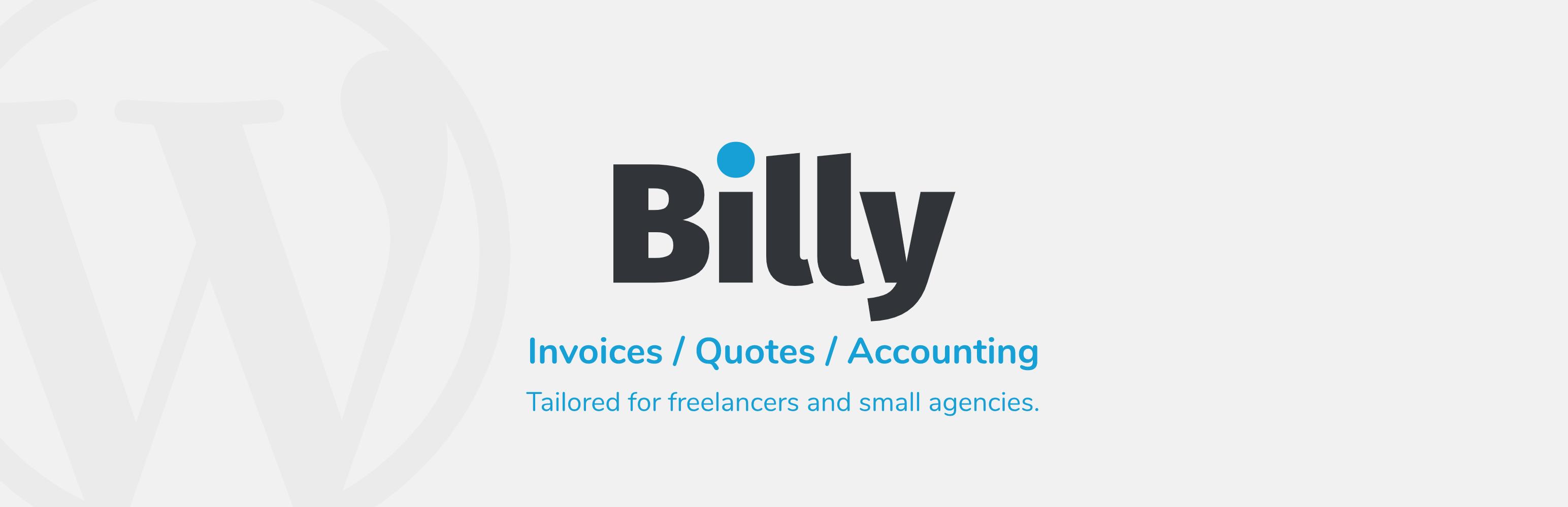 Billy Invoice Management WordPress Plugin